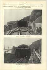 1921 Parsons Tunnel Lengthening Photographs Showing Winches