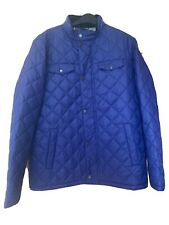 Barbour Mens Blue Quilted Coat Jacket Size L BNWT