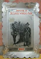 1904 ST LOUIS WORLD'S FAIR Risque Souvenir Tray 'A Test of Discipline' Card Tip