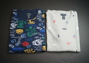 POLO RALPH LAUREN Men's Print Waffle Knit Thermal Sleep Shirt NWT