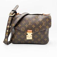 Louis Vuitton Pochette Metis Brown Monogram Canvas Shoulder Bag