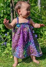 Girls baby summer boho beach dress hippy hippie festival 0 - 6 yrs