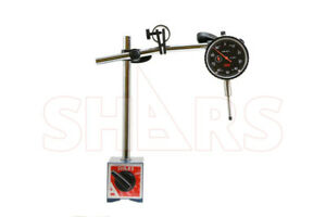 """Shars 135 lbs Magnetic Base w/Fine Adjustment + 1"""" Dial Indicator .001"""" New P]"""