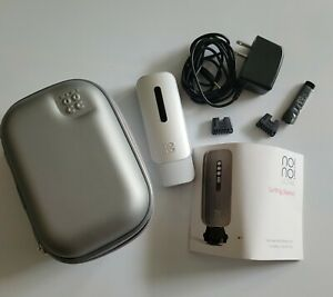 NO! NO! Hair Removal System case charger manual Silver and White