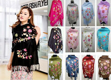 Lady's Soft Cashmere Pashmina Embroidered flower Shawl /Scarf Scarves/Wrap