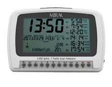 MIRAC Azan Prayer Nimaz Clock, Islamic Table Azan Reminder White Batteries -ULN
