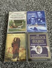 Bundle Of Classic Audio Boos Casablanca, Sherlock Holmes Etc Cassettes Bundle
