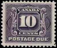 Canada #J5 mint F-VF OG HR 1928 First Postage Due 10c reddish violet CV$90.00