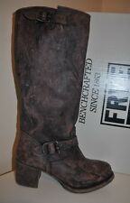 NIB Frye Vera Slouch Dark Brown Knee High Boot Low Block Heel # 76527 Sz 10 M
