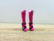 Monster High Doll Shoes Original 1st Wave One Draculaura Pink Black Boots