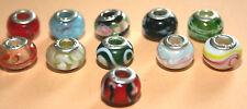 Murano Glas Beads , 925 Silber Hülse, gestempelt