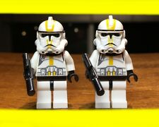 LEGO STAR WARS 2X CLONE TROOPER EP.3 YELLOW MARKINGS CORPS MINIFIGURE #7655