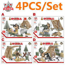 WW2 Military Soldiers US USSR Russian Army + Weapon Fit Lego Mega Minifigures