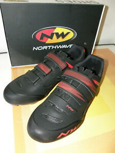 NORTHWAVE ORIGIN CYCLING SHOES SIZE 12.5 (EU47) BLACK & RED NEW & BOXED