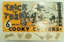 VINTAGE TRICK OR TREAT COOKIE CUTTERS IN ORIGINAL BOX