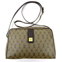 Nina Ricci Canvas & Leather Crossbody Messenger Shoulder Bag in Brown - Italy