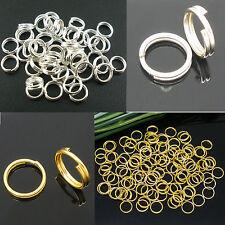 Double Loop O-ring Split Open Jump Rings Link Connector Hoop DIY Crafts Makings