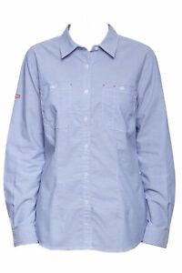 *NWT* Hard Yakka Size 12 Women's Long Sleeve, Light Blue Chambray Work Shirt