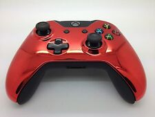 Custom Original Xbox One CHROME RED Controller shell case housing - Top Shell