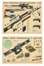 *SVD Dragunov Sniper Rifle & PSO-1 Scope COLOR Poster Soviet Russia Look & BUY!!