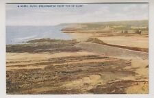Cornwall postcard - Bude, Breakwater from Top of Cliff