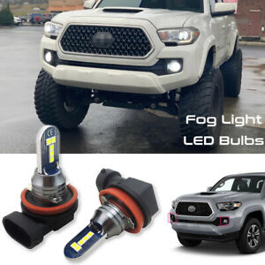 2x Extremely Bright Xenon White Fog Lights LED Bulbs for Toyota Tacoma 2012-2020