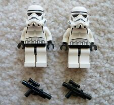 LEGO Star Wars - Rare Original - 2 Storm trooper Minifigs w/ Weapons - Excellent