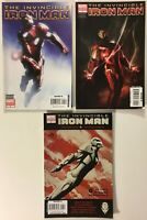 Invincible Iron Man #s 4, 5, and 6 Variant Covers Lot of 3 - Marvel Comics 2008