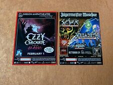 Ozzy Osborne Gibson Amphitheater February 1st Flyer 5x3in