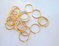 1 Ear Septum Nose Lip Ring Fake 20g Look No Piercing Needed Gold Plated