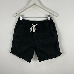 Academy Brand Mens Shorts 30 Black Elastic Waist Drawstring Pockets