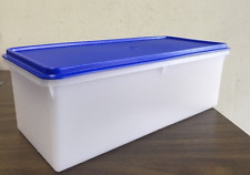 New Tupperware Jumbo Bread Server / Storage Brilliant Blue Seal Brand New