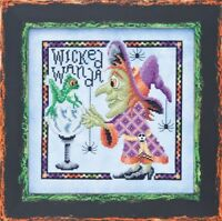 GLENDON PLACE Cross Stitch Pattern Chart WICKED WANDA Halloween