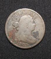1803  Draped Bust Half Cent