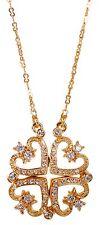 Swarovski Elements Crystal Magnetic Quadruple Hearts Pendant Necklace Gold 7110y