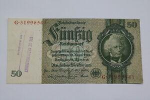 BANKNOTE BELGIUM WWII 50 MARK 1929 CENTRE RASSEMBLEMENT VERY RARE B21 BEL89