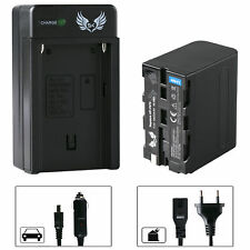 SK Akku für Sony NP-F970 6600mAh + Ladegerät NP-F750 | 1060386-90263-90302