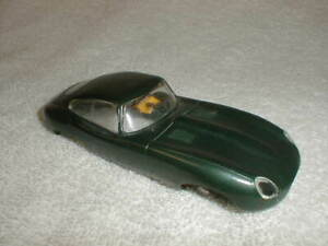 2 XKE Roadsters Very Green Nice & Red is RUFF Revell Vintage Slot Car 1960 used