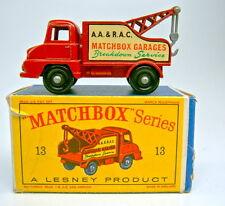 """Matchbox RW 13C Thames Trader Wreck Truck schwarze Räder feines Profil """"D"""" Box"""