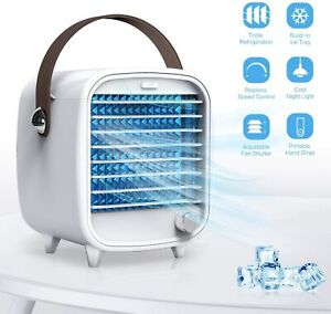Air Conditioner Fan Personal Air Cooler Desk Fan Ice Tray USB Connect AU STOCK