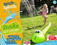 Splish Splash Snake Sprinkler-Kids Outdoor Fun Game-Easy Setup 25x21.8x4cm 381g