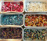 JOB LOT BEADS SELLING BY COLOURS.MIXED SIZES 50grams   NEW