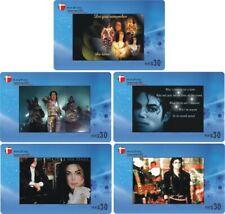 Michael Jackson 5 telefoonkaarten/télécartes  (MJ0028-5c)