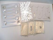 Plastic Lollipop Sticks Candy Soap Mold Lot Heart Form 2 Piece