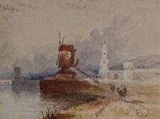 JAMES HOLLAND RWS FINE ORIGINAL IMPRESSIONIST FRAMED WATERCOLOUR PAINTING c.1840