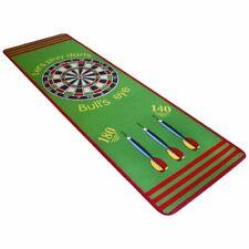 vidaXL Dart Play Rug Carpet Non-slip Gel Backing Game 79x237 cm Green and Red