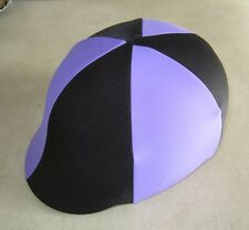 Horse Helmet Cover ALL AUSTRALIAN Black &  mauve Choose your size