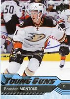16/17 UPPER DECK YOUNG GUNS ROOKIE RC #476 BRANDON MONTOUR DUCKS *41670
