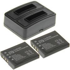 Duo Ladegerät + 2 Akkus Typ Sony NP-BG1 Ladestation Accu Battery Ersatzakku