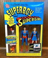 Silver Age Superboy & Supergirl DC Direct Deluxe Action Figure Set 2002 New